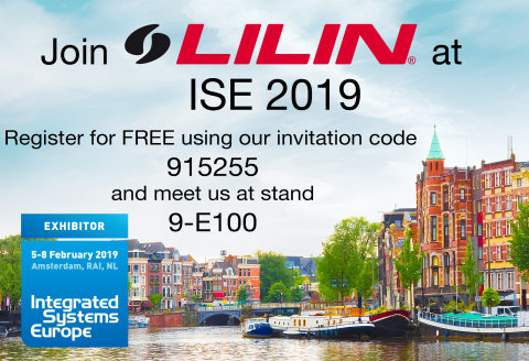Join LILIN at ISE 2019!